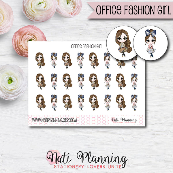 Office Fashion Girl Stickers