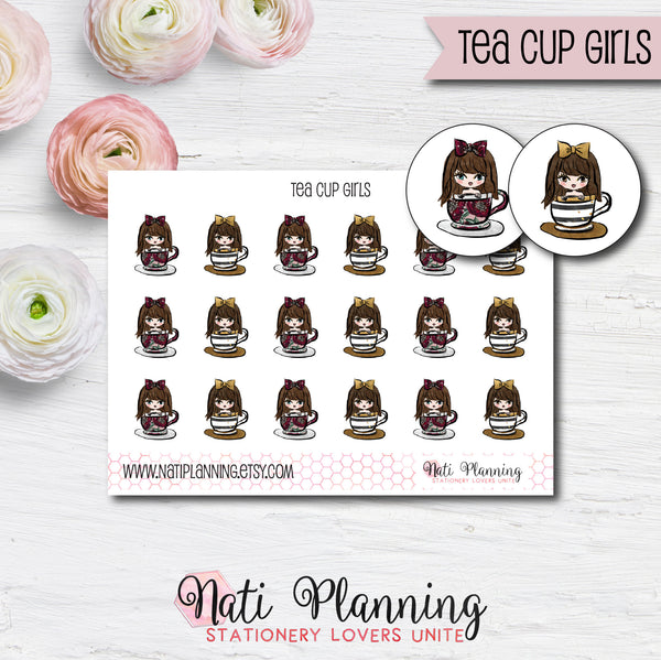 Tea Cup Girls Stickers