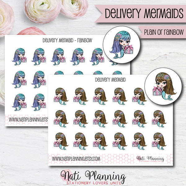 Delivery Mermaids Stickers