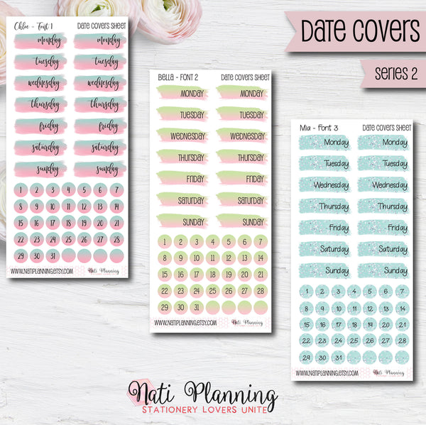 Date Cover Stickers - Series  Two
