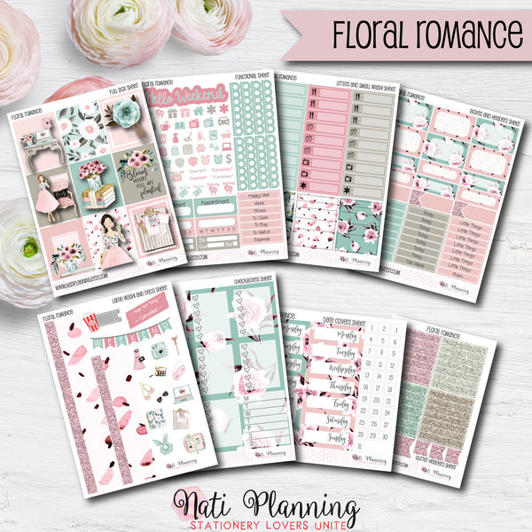 Floral Romance - INDIVIDUAL Sticker Sheets