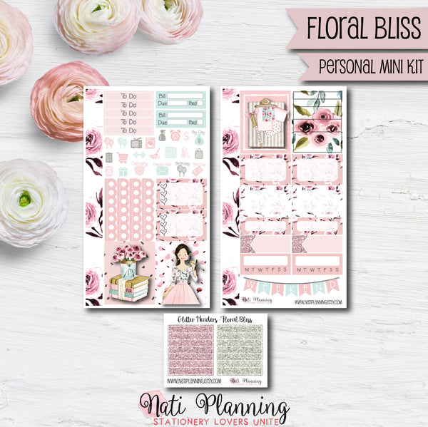 Floral Bliss - Weekly PERSONAL MINI Sticker Kit