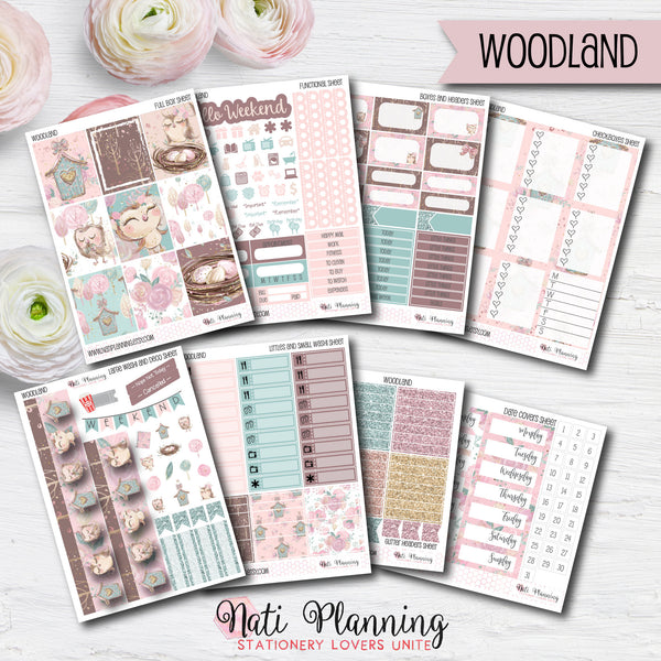 Woodland - Weekly VERTICAL Sticker Kit