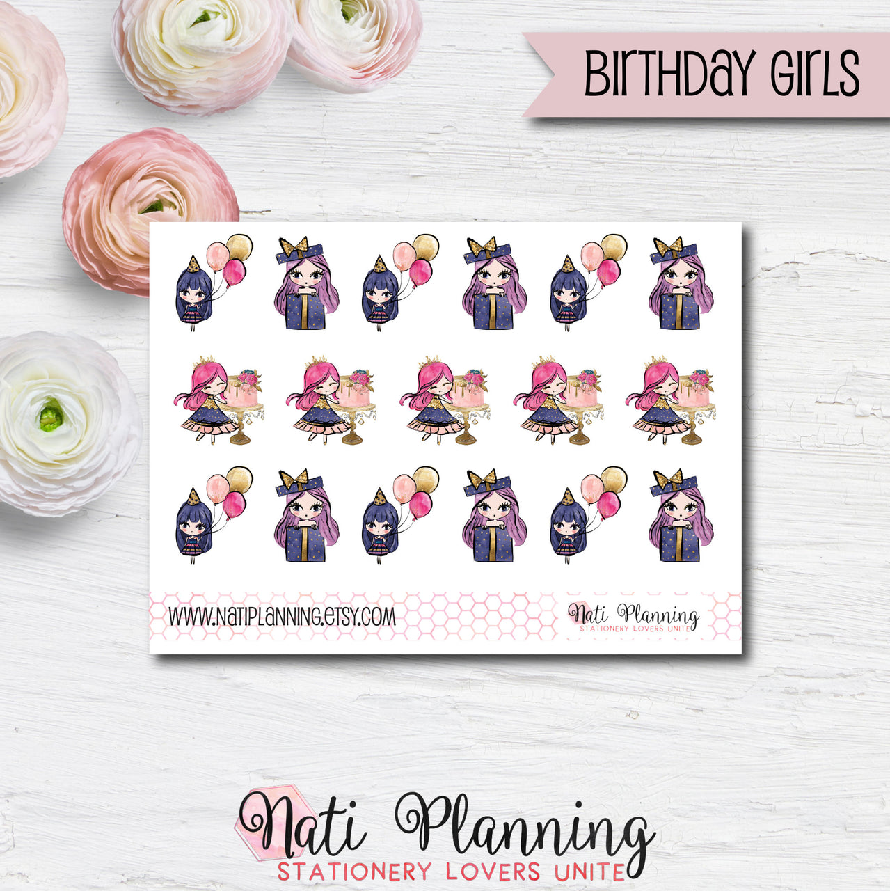 Birthday Girl Stickers
