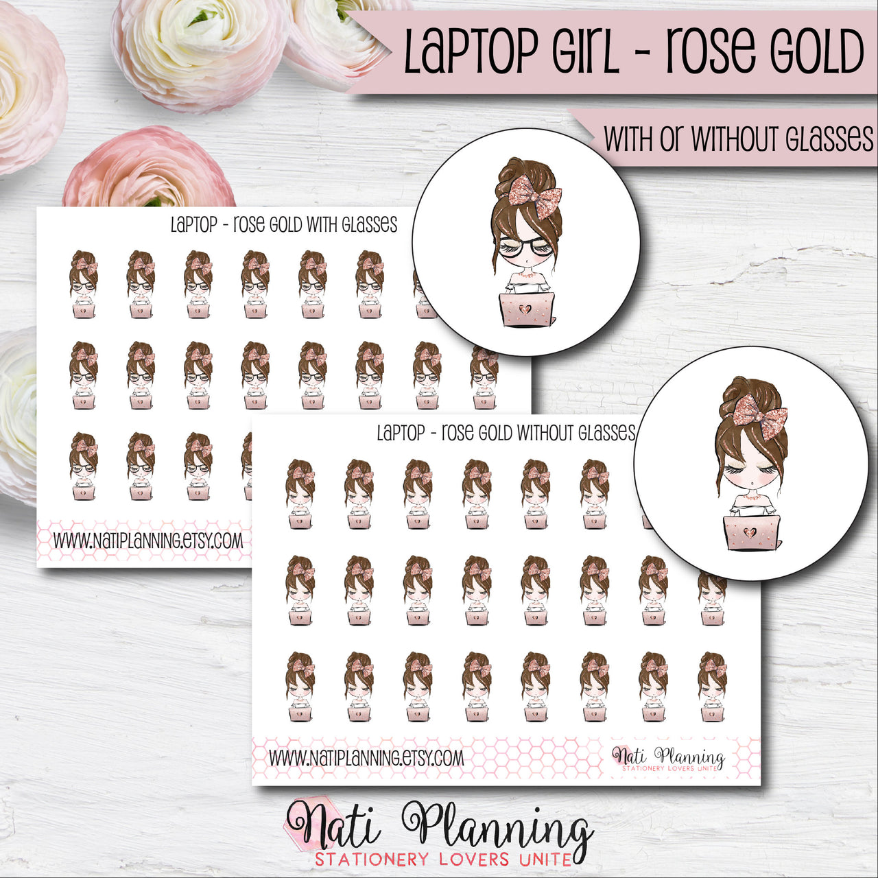 Laptop Girl - Rose Gold