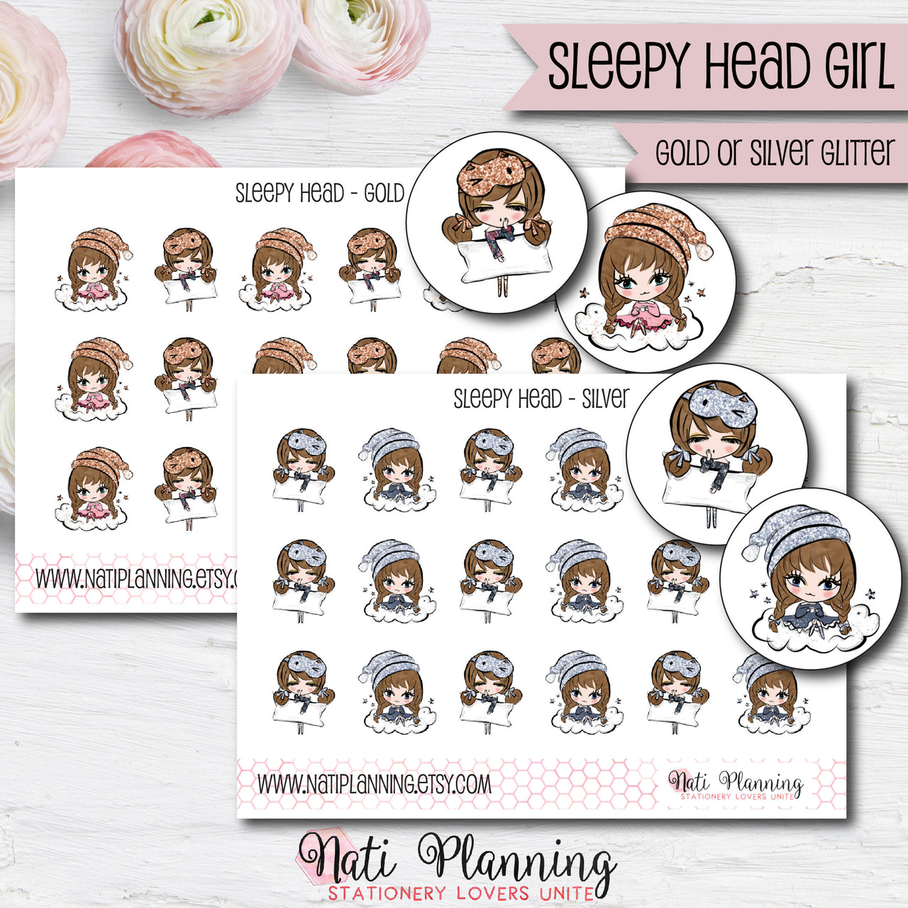Sleepy Head Girls Stickers