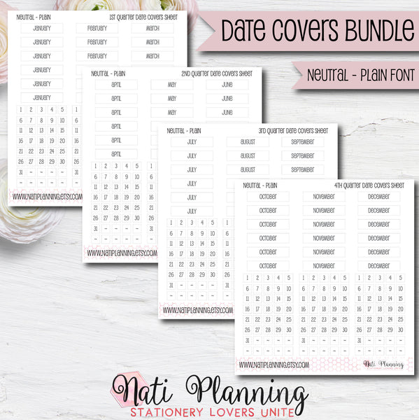 Date Cover Bundle - Neutral Plain