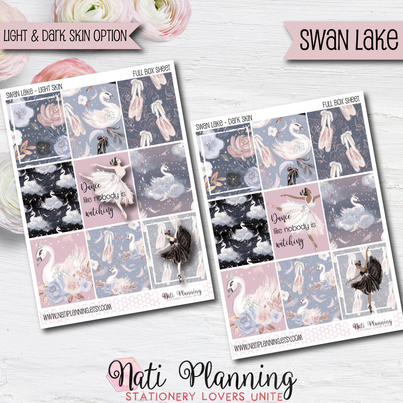 Swan Lake - Weekly VERTICAL Sticker Kit