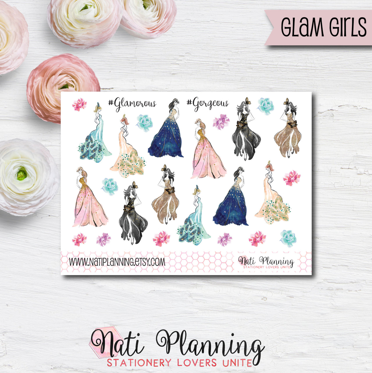 Glam Girls Stickers