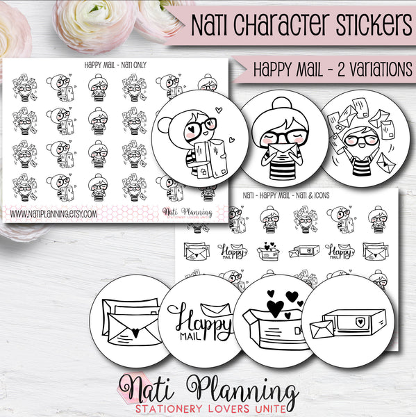 Nati - Happy Mail Stickers