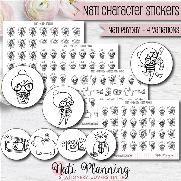 Nati - Pay Day Stickers