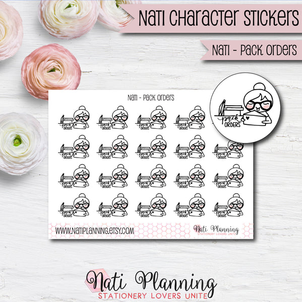 Nati - Pack Order Stickers