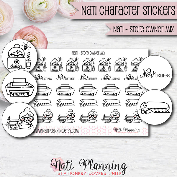 Nati - Store Owner Stickers