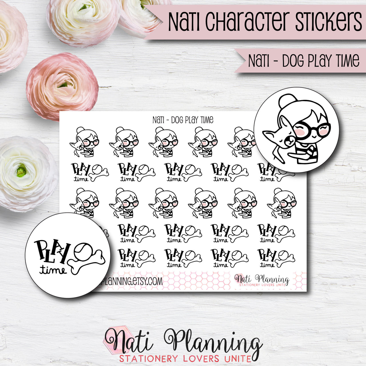 Nati - Dog Play Time Stickers