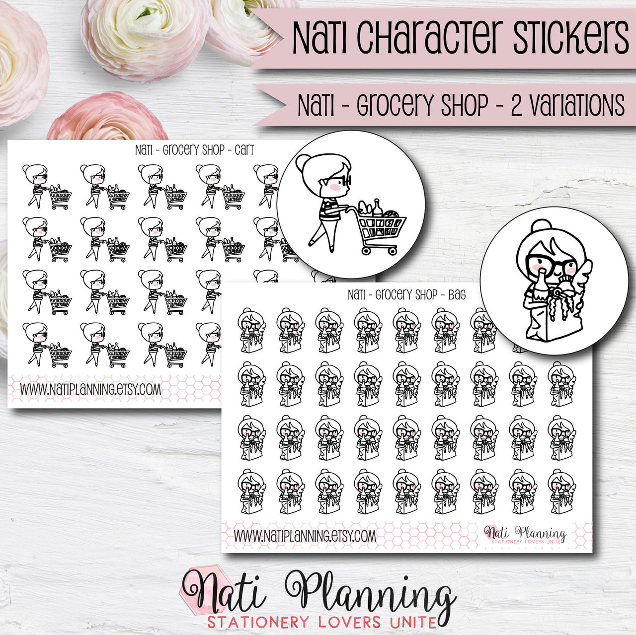 Nati - Grocery Shopping Stickers