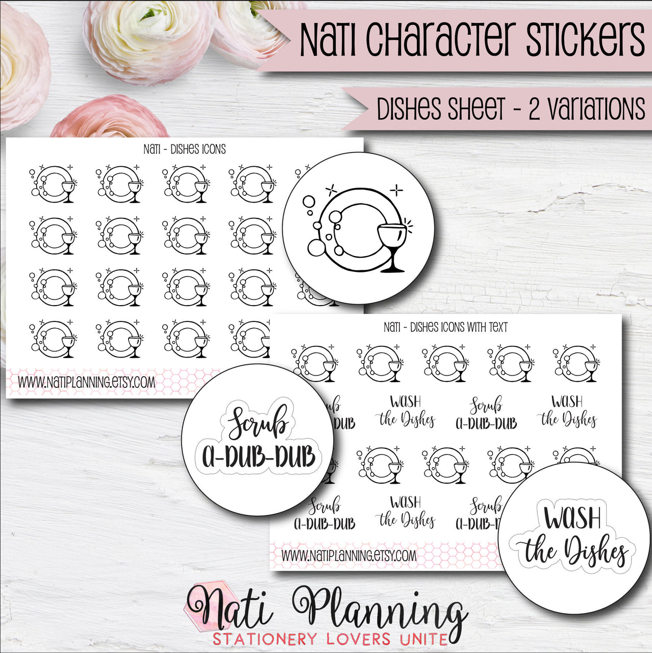 Nati - Dishes Stickers