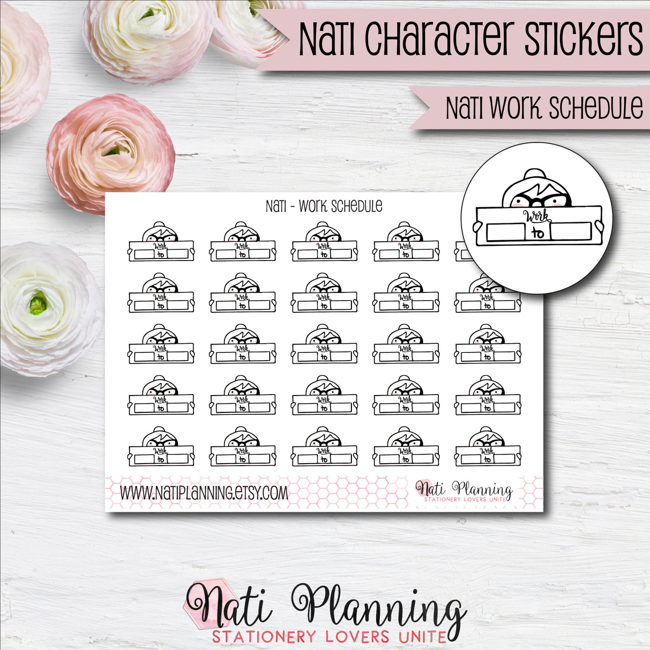 Nati - Work Schedule Stickers