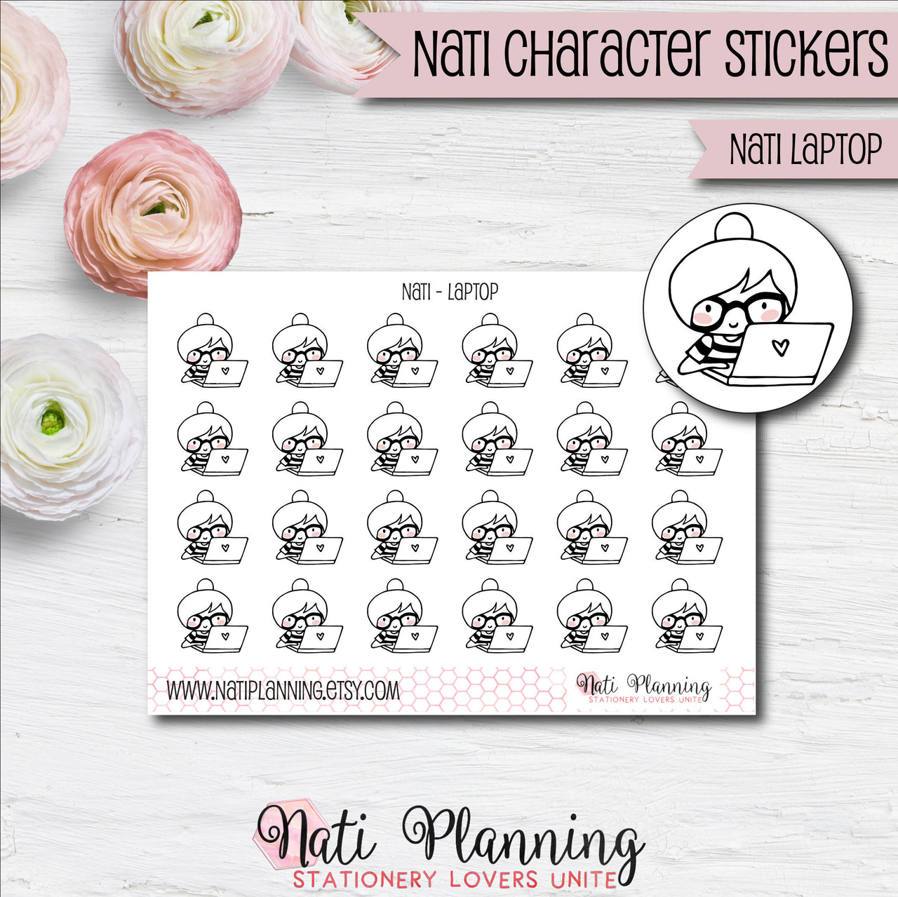 Nati - Laptop Stickers