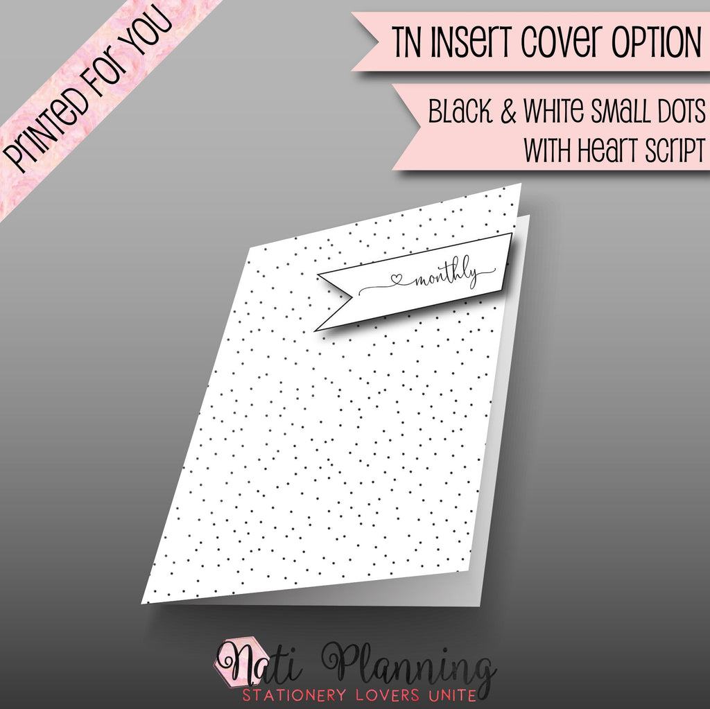 2019 MONTHLY PRINTED B6 Travelers Notebook Inserts | 2019 TN Inserts | Foxy Fix Inserts | 2019 Monthly Inserts | Travellers Notebook | Plain