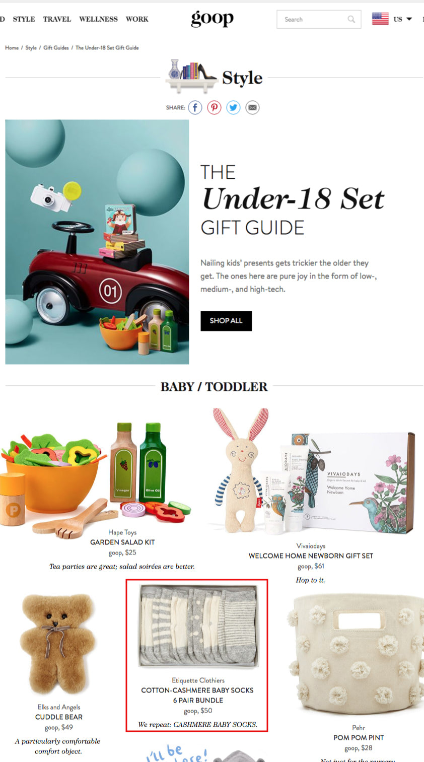 Goop: The Under-18 Set Holiday Gift Guide