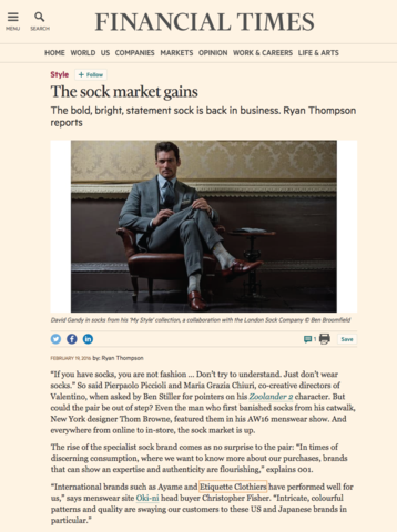 FT - The Sock Market Gains