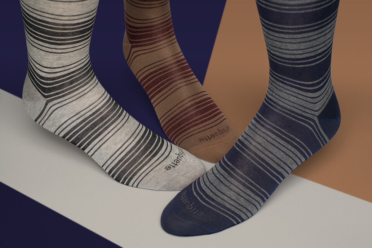 Mens Striped Socks and Striped socks for men perfect match for Slacks & Suits⎪ Etiquette Clothiers