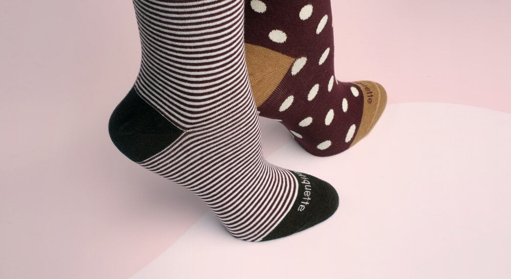 womens socks and best socks for women in fashionable patterns and luxurious finishes - made in Italy by Etiquette Clothiers