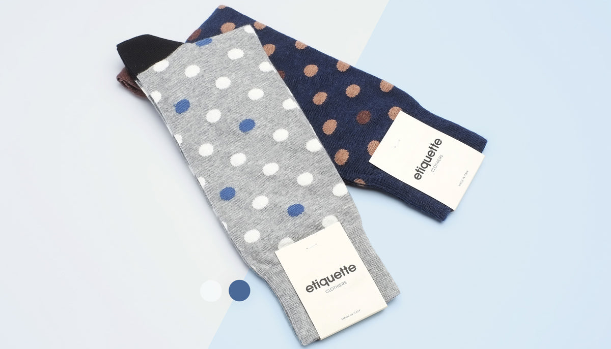 Mens Polka Dot Socks & Dotted Mens Socks by Etiquette Clothiers