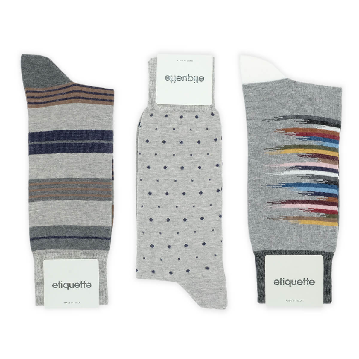 Mens Socks - Shades of Grey Men's Socks Gift Box - Grey⎪Etiquette Clothiers