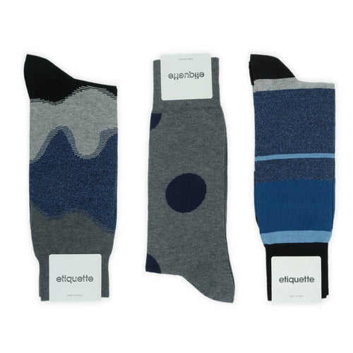 Shades of Indigo Men's Socks Gift Box  - Alt view
