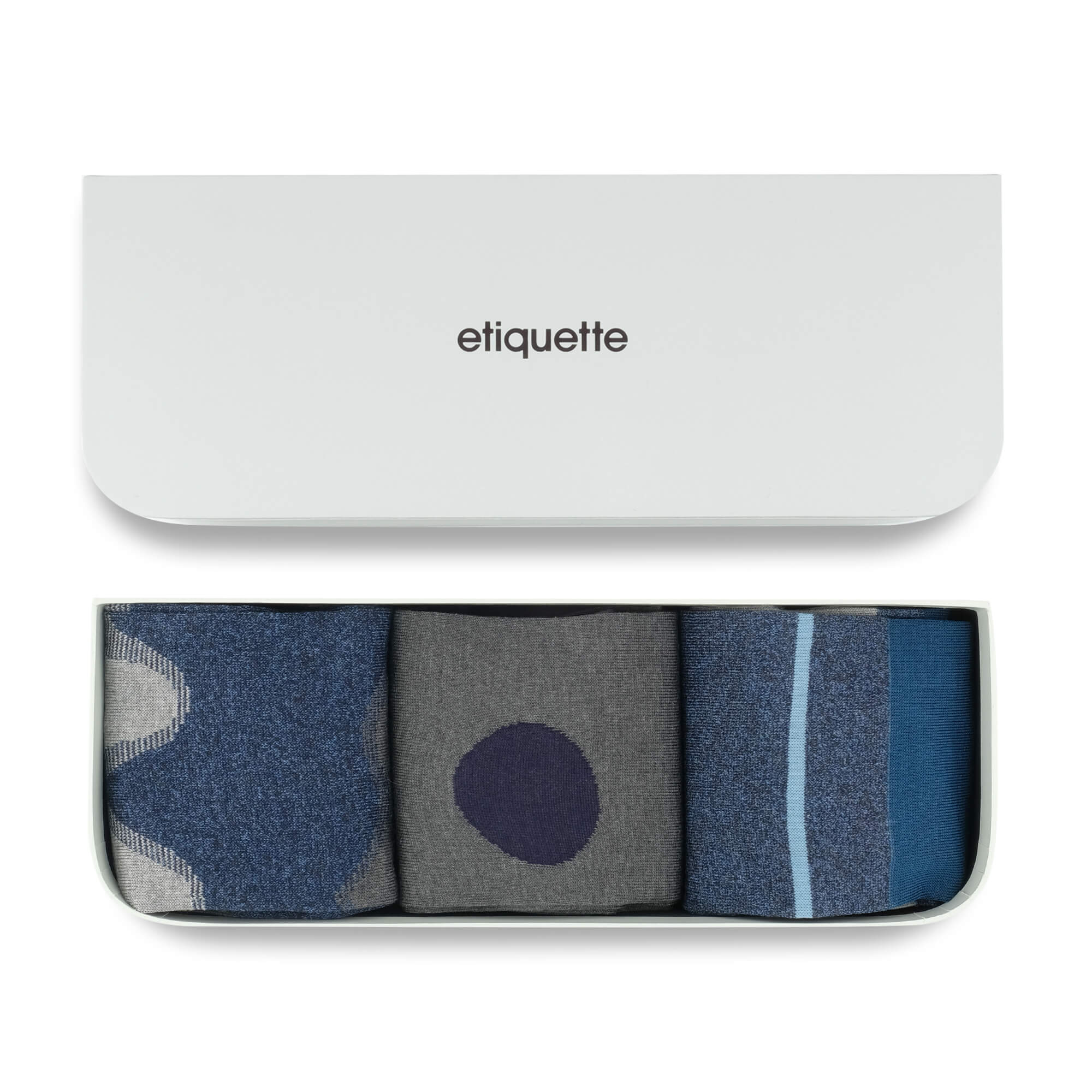Mens Socks - Shades of Indigo Men's Socks Gift Box - Blue⎪Etiquette Clothiers