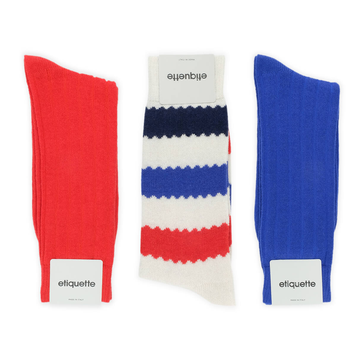 Mens Socks - The Patriot Cashmere Men's Socks Gift Box - Multi⎪Etiquette Clothiers
