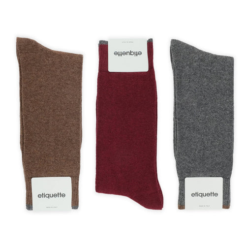 Gentleman's Cashmere Men's Socks Gift Box  - Alt view