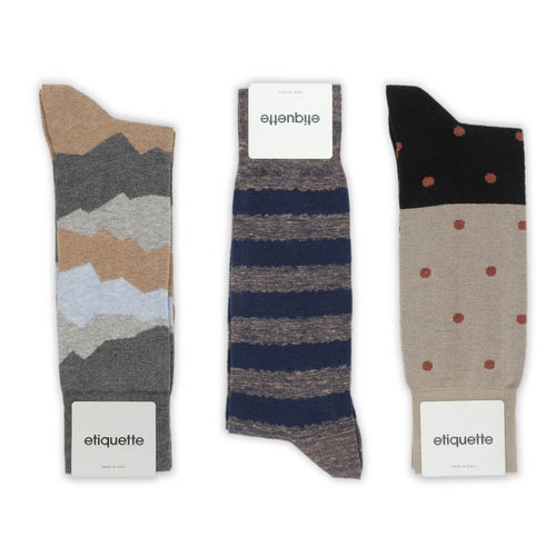 Earthy Aroma Men's Socks Gift Box  - Alt view