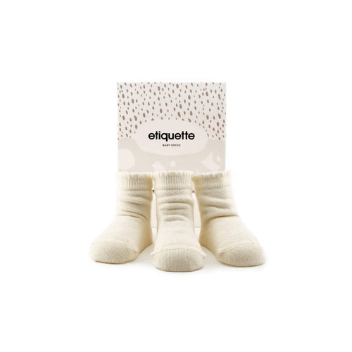 Cashmere Pique Baby Socks Gift Box