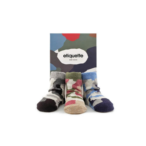 Camouflage Baby Socks Gift Box
