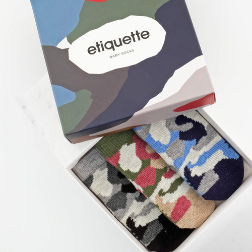 Camouflage Baby Socks Gift Box  - Alt view