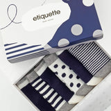 Baby Socks - Classic Sky Baby Socks Gift Box - Blue⎪Etiquette Clothiers