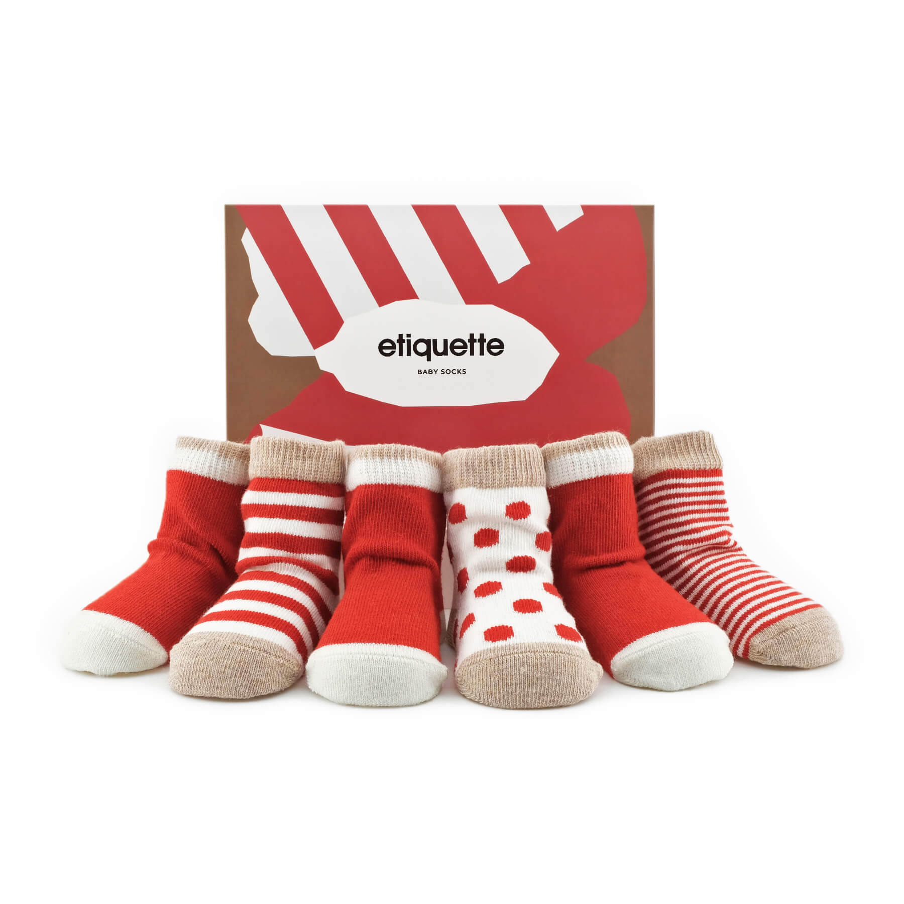 Baby Socks - Classic Earth Baby Socks Bundle - Red⎪Etiquette Clothiers