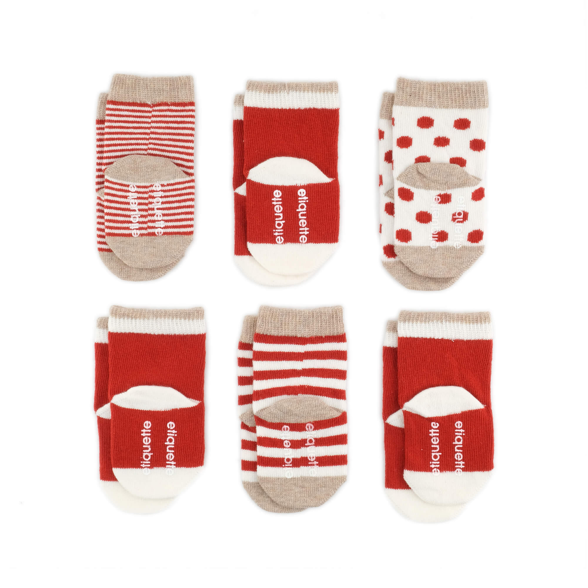 Baby Socks - Classic Earth Baby Socks Gift Box - Red⎪Etiquette Clothiers