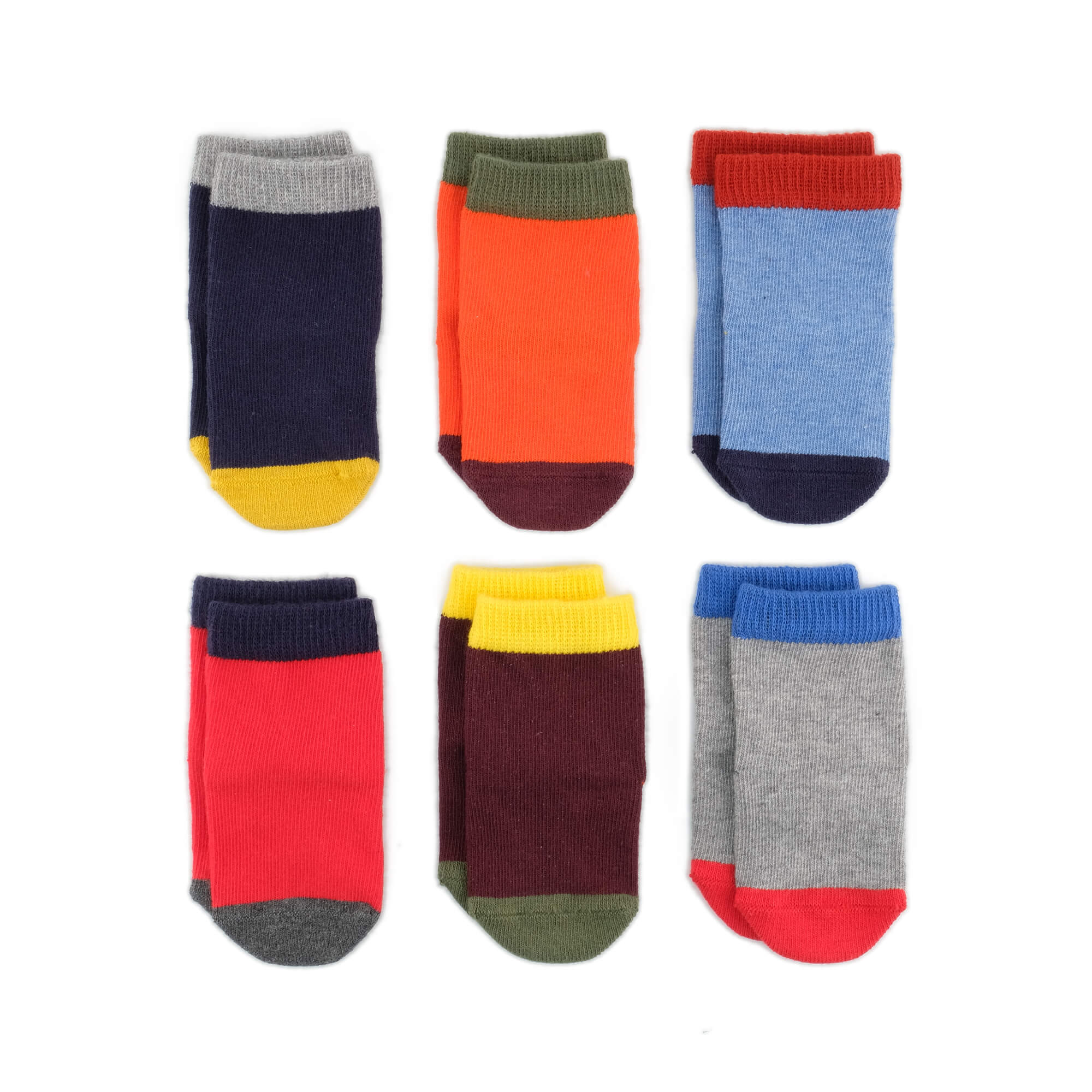 Baby Socks - Solid As A Rock Baby Socks Gift Box - Multi⎪Etiquette Clothiers