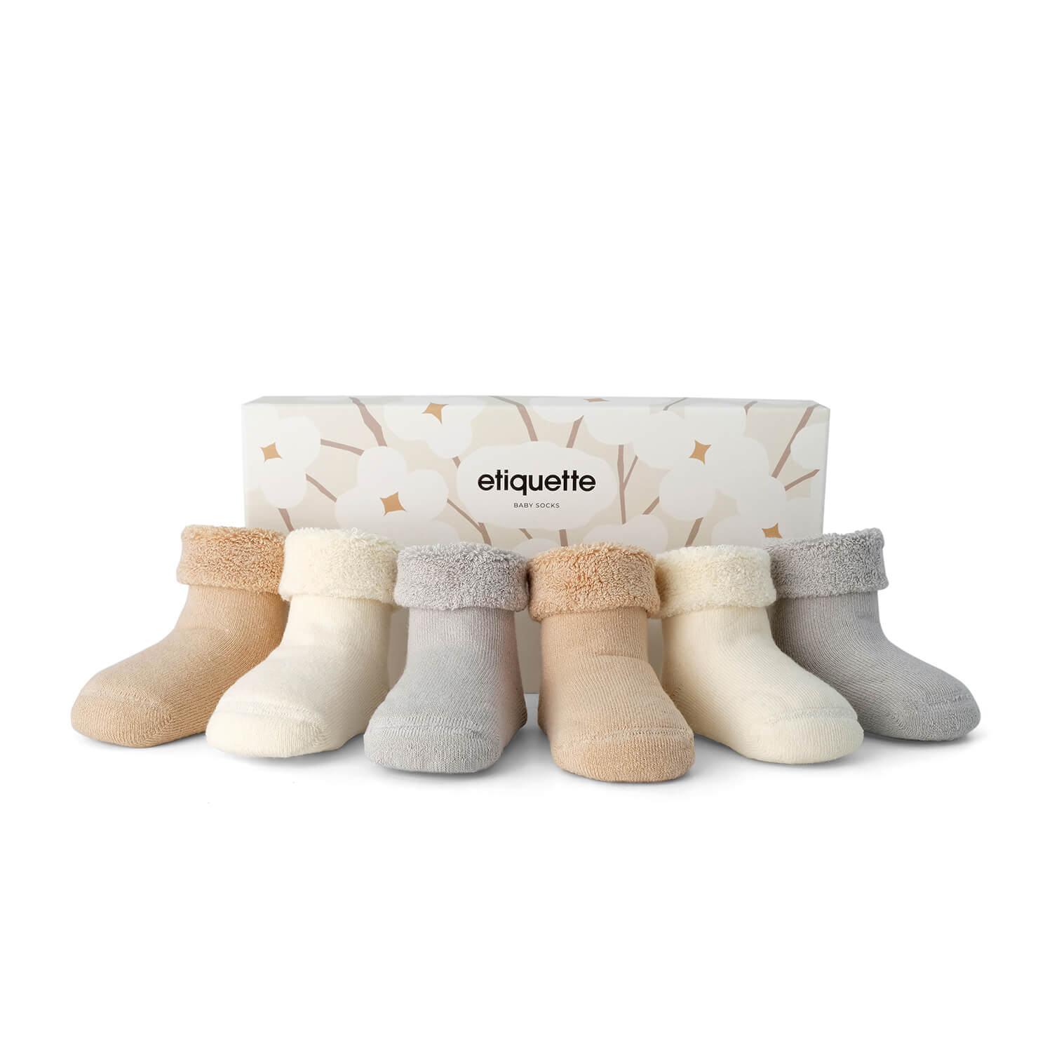 Baby Socks - Organic Pure Terry Baby Socks Gift Box⎪Etiquette Clothiers