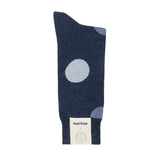 Mens Socks - Etiquette x TDN Big Dots Men's Socks - Blue⎪Etiquette Clothiers