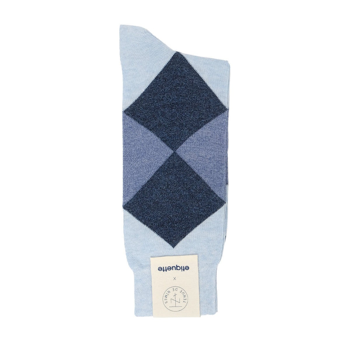 Mens Socks - Etiquette x TDN Harlequin Men's Socks - Blue⎪Etiquette Clothiers