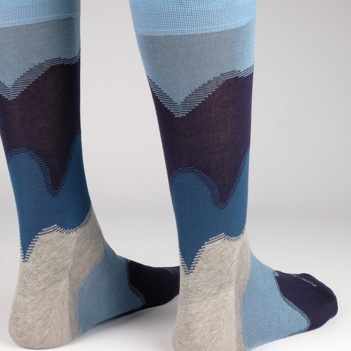 Mens Socks - Idyllic Men's Socks - Blue⎪Etiquette Clothiers