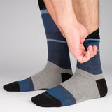 Mens Socks - Lisbon Stripes Men's Socks - Blue⎪Etiquette Clothiers