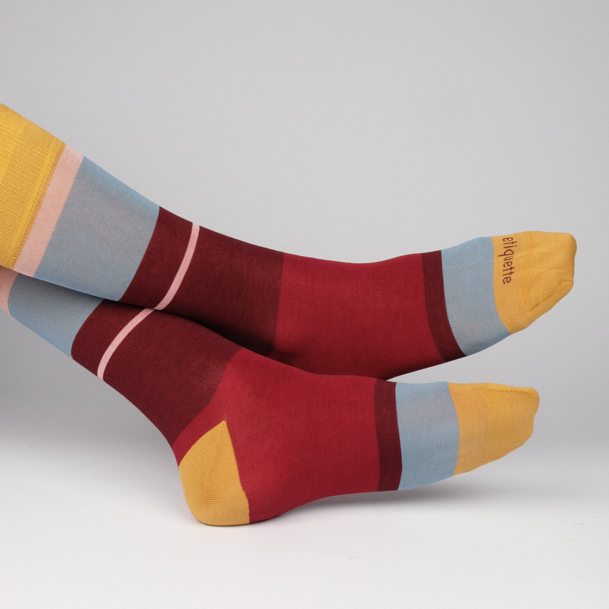 Mens Socks - Lisbon Stripes Men's Socks - Yellow⎪Etiquette Clothiers