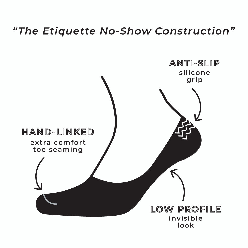 Mens Socks - No Show - Black⎪Etiquette Clothiers