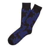Mens Socks - Cashmere x Merino Camouflage Men's Socks - Dark Blue⎪Etiquette Clothiers