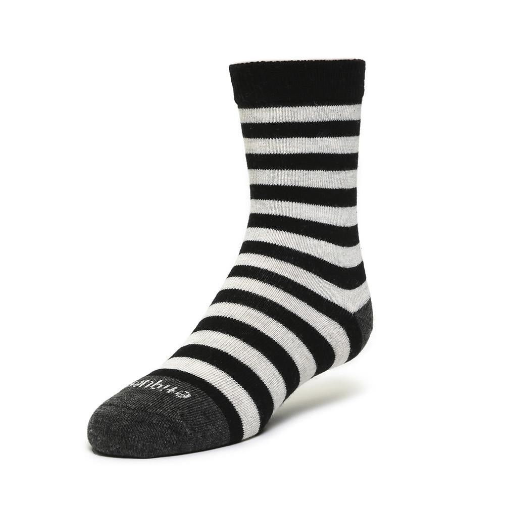 Kids Socks - Abbey Stripes - Tux Black⎪Etiquette Clothiers